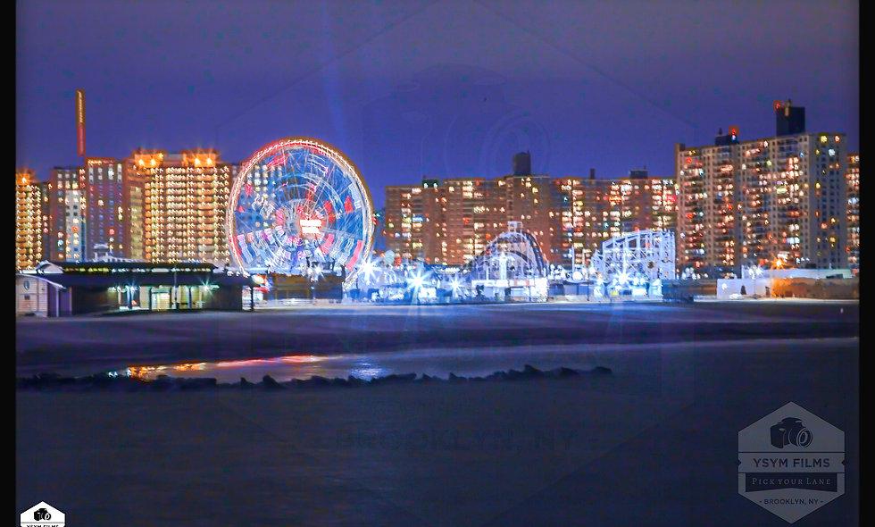 Coney Island, Brooklyn... Spinning Ferris Wheel postcard