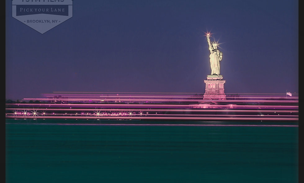 Lady Liberty w/streaks from the staten Island Ferry....NYC, Postcards pack of 20