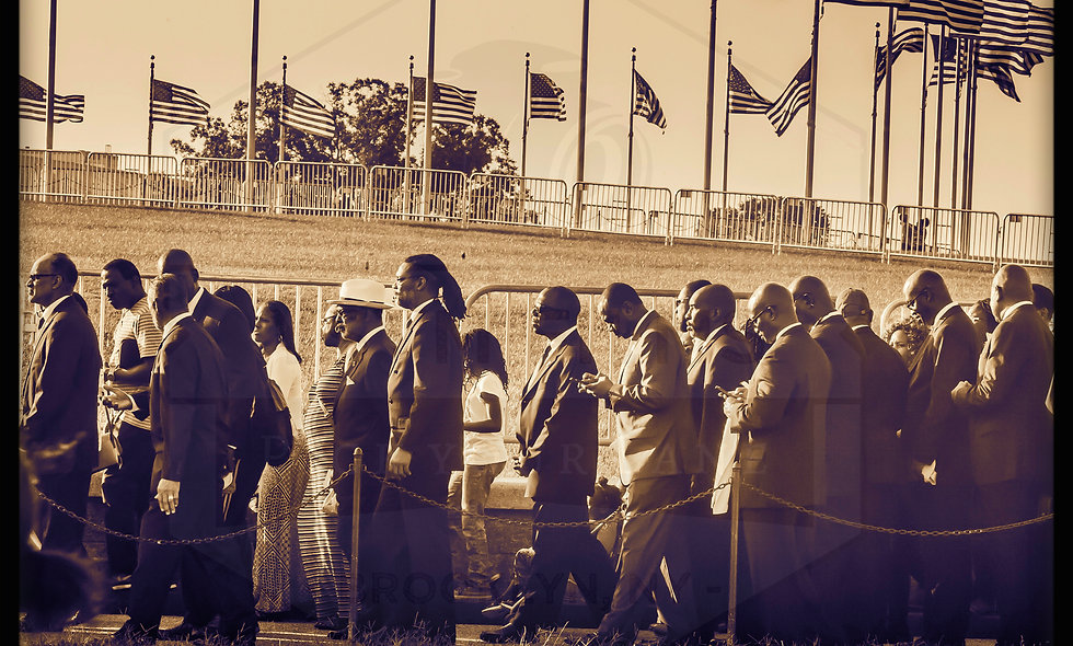 African Americans standing by the Washington Monument post card