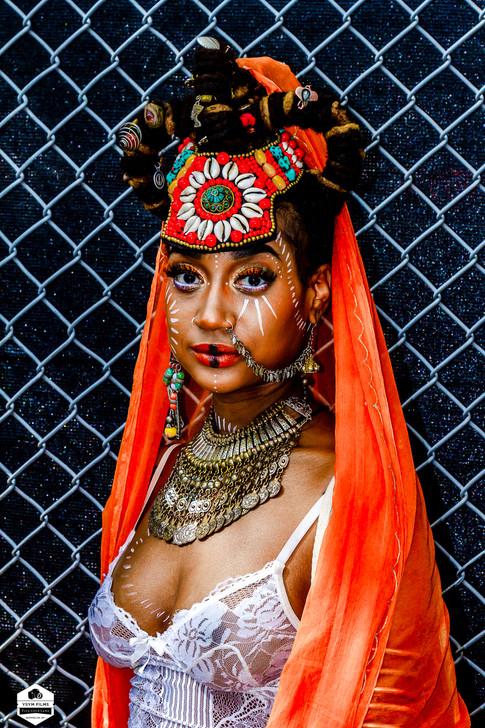 Afro Punk African Designer Rose and Mode