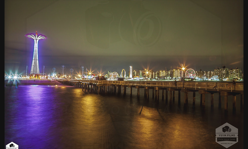 Coney Island, Broadwalk. Brooklyn. New York Happy New Years