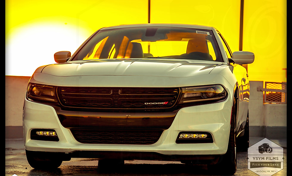 Dodge Challenger sunset...