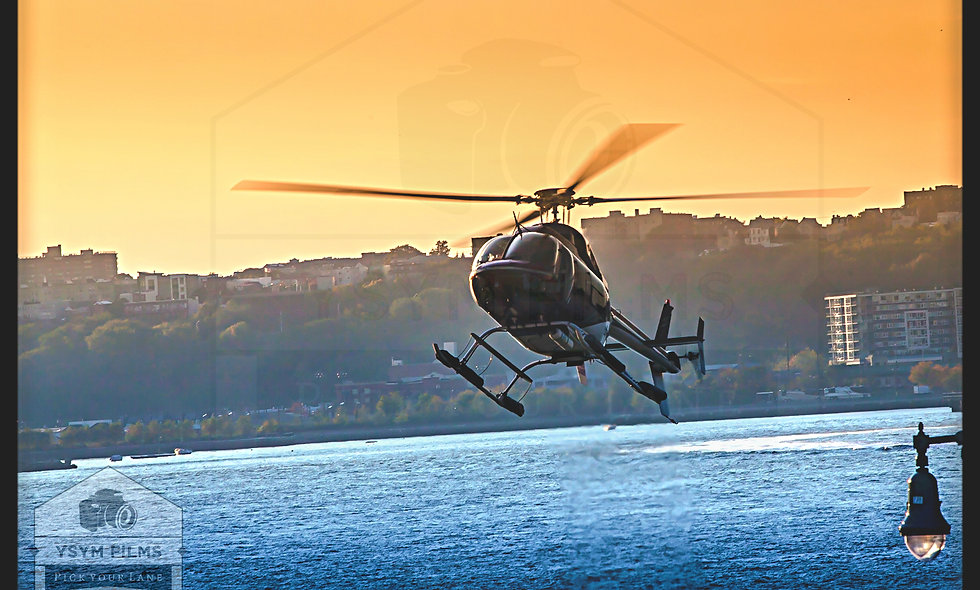 Chopper flying away during a night sunset postcards & greeting cards