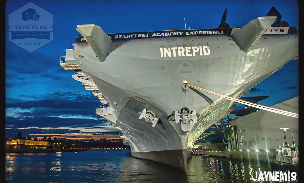The Naval Intrepid with a view. Post Cards