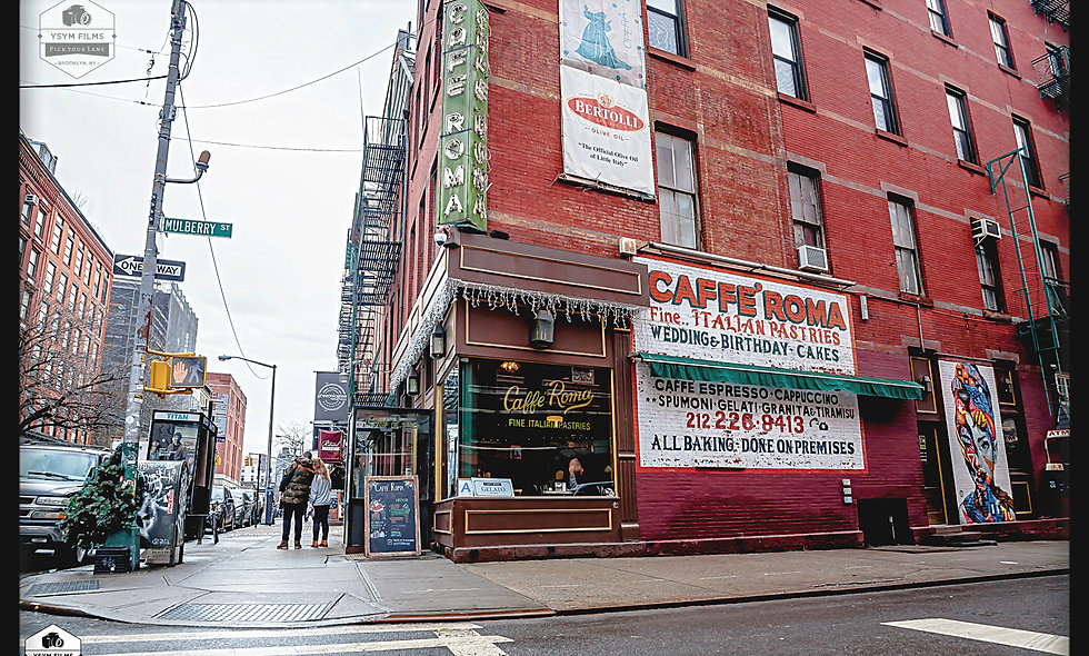 Mulberry St. Little Italy. Caffe Roma  Pastries Post card