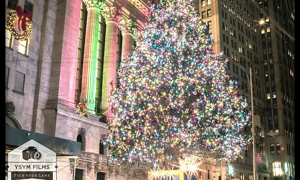 NYSE showing love for Kwanzaa & Christmas.... New York, Wall st.
