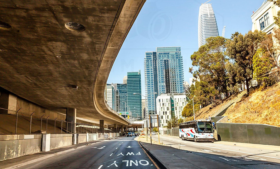 Cityscape - Highway underpass in San Francisco