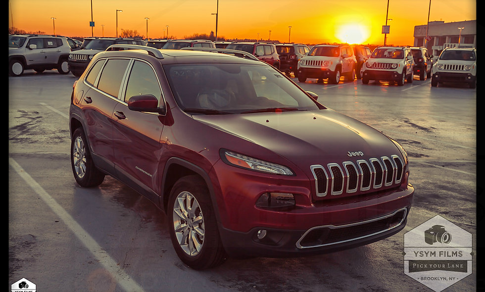 Red Jeep Cherokee Sunset, 20 x 30 Portrait