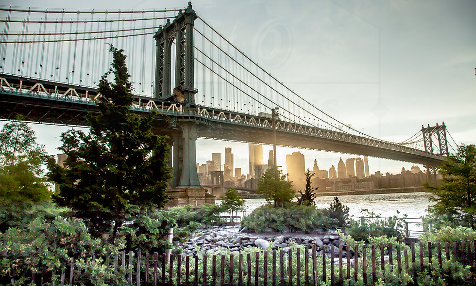 24 x 36 size. Brooklyn Bridge Park, Light After the Storm