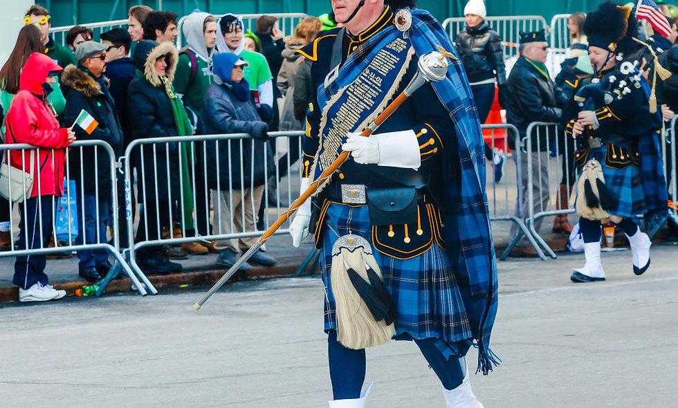 St. Patrick's Day Full Kilt uniform with Irish Brian Boru jacket