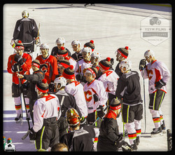 Calgary Flames Pro Scrimmage game