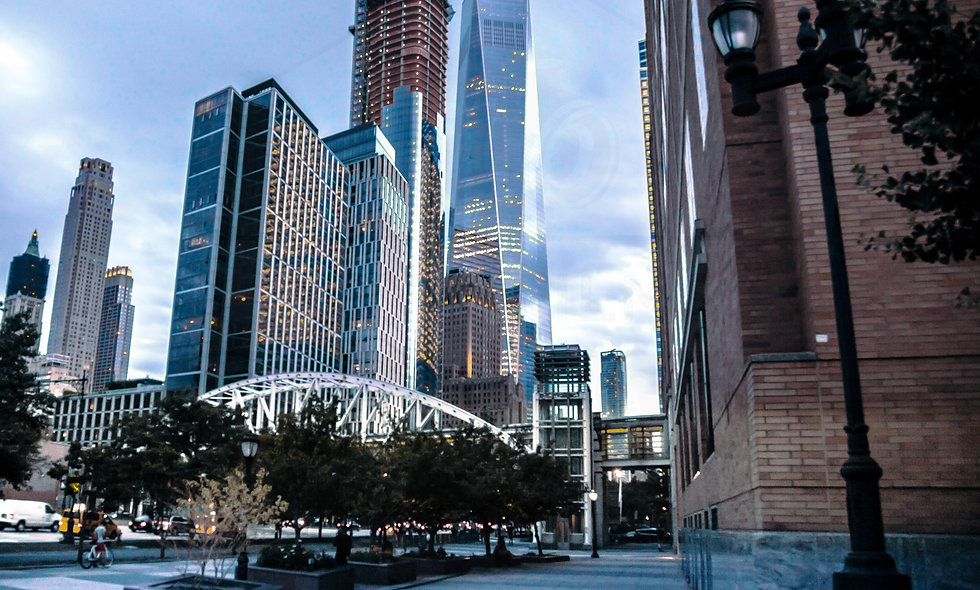 24 x 36 size. Freedom Tower by BMCC Lower Manhattan, NYC