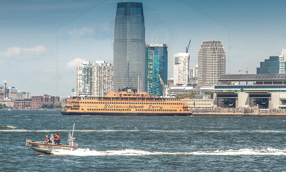 24 x 36 size US Coast Guard & Staten Island Ferry