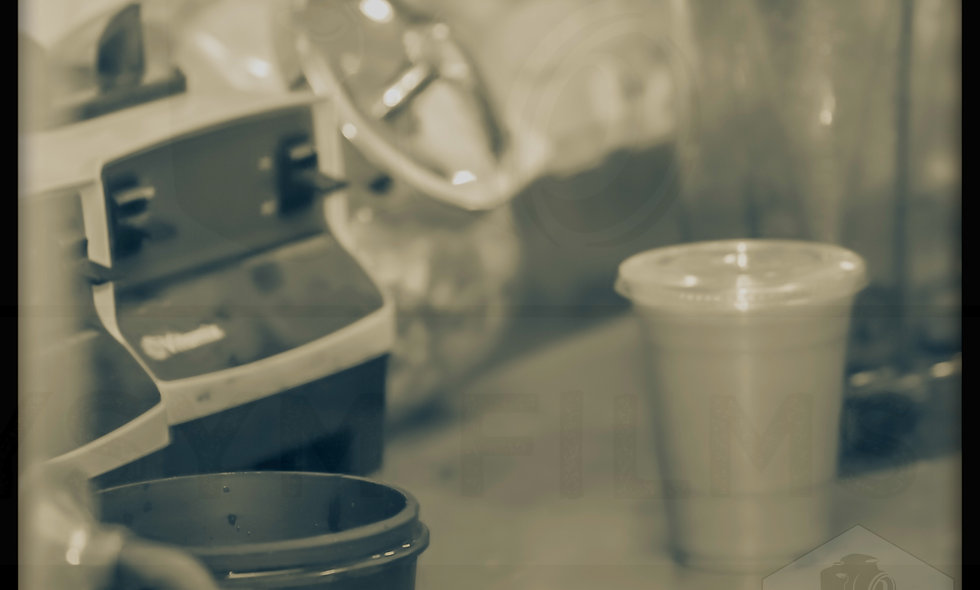 Vintage old school film style, smoothie product photo