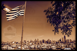 Vintage American Flag New Jersey Boat Harbor.jpg