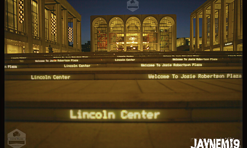Portrait taken from the ground of Lincoln Center in NYC.....Night Shot
