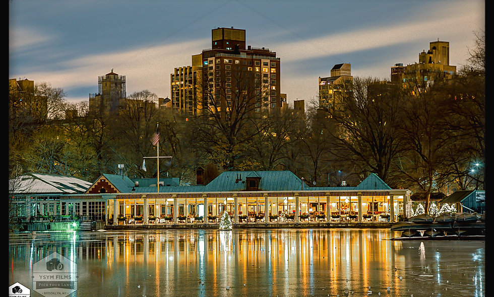 The Lake (Frozen) & the Row House.... Central Park NYC.