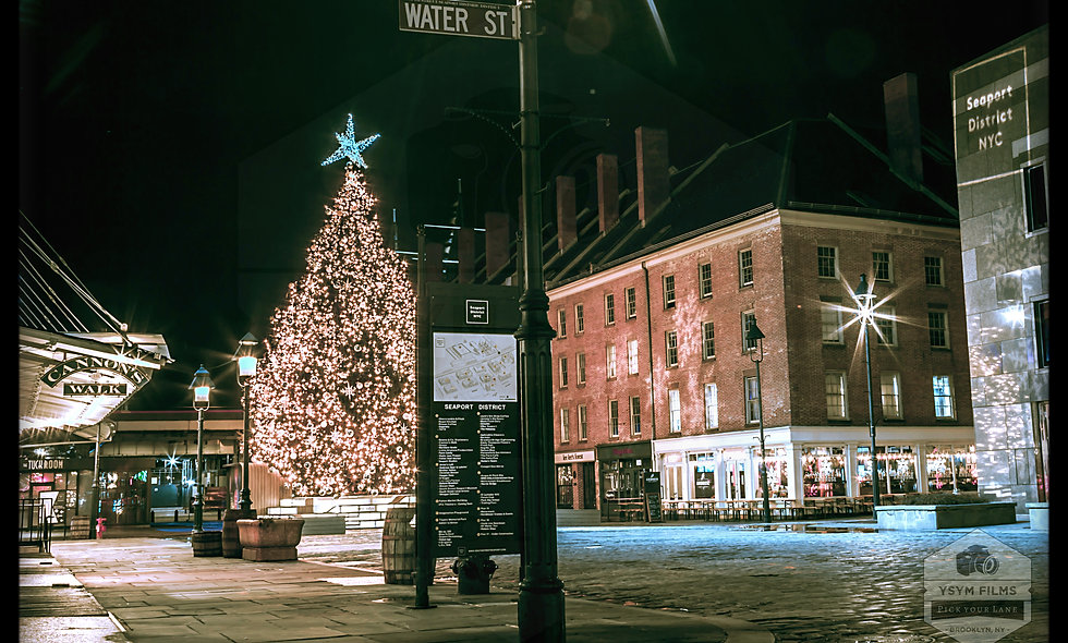 South Street Seaport District, Historic Water St. Night Shot