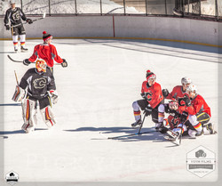 Calgary Flames Pro Scrimmage game GOOF OFF