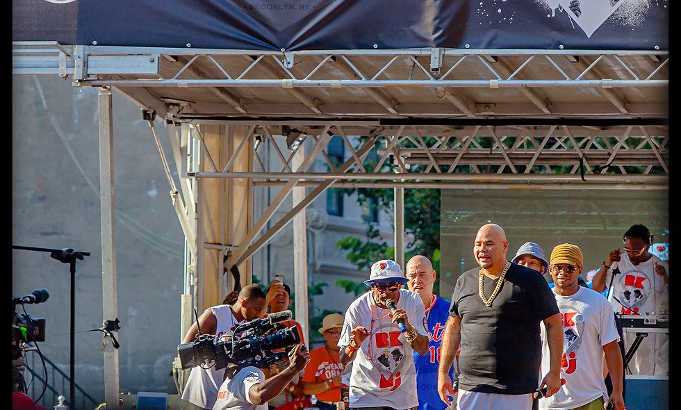 24 x 36 Spike Lee & Fat Joe at BK Love MJ event Portrait.