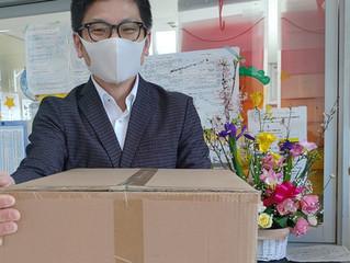 木 マスクのご寄付いただきました