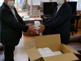 木 学 マスクを寄贈頂きました