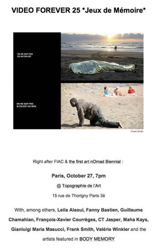 Video Forever - Jeux de mémoire par Barbara Polla & Paul Ardenne - Exposition Mardi 27 Octobre 2