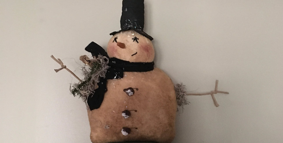 Snowman with Mouse on his  shoulder