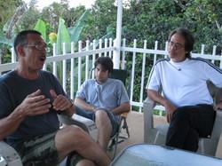 Veterans enjoying the porch