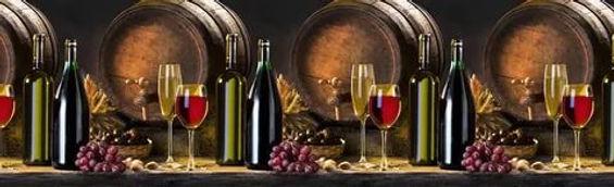 Фартук для кухни Вино