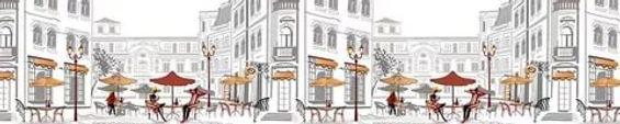 Фартук кухонный уличное кафе