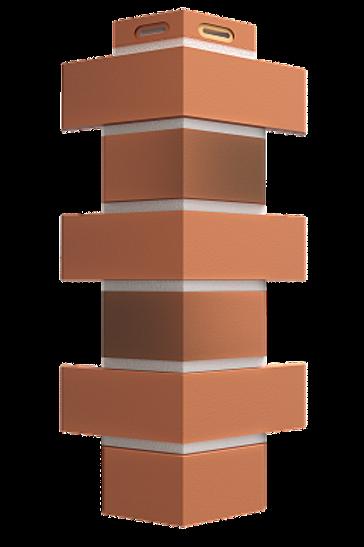 Угол фасадный красный жженый