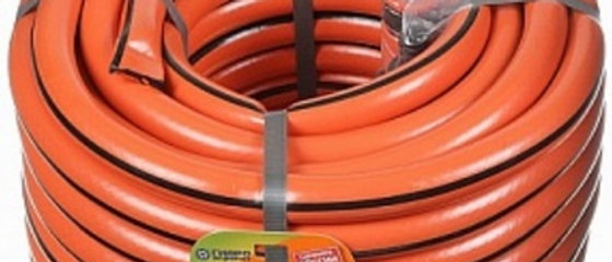 Шланг 3/4 ПВХ Гидро армированный оранжевый с полосой 25м.
