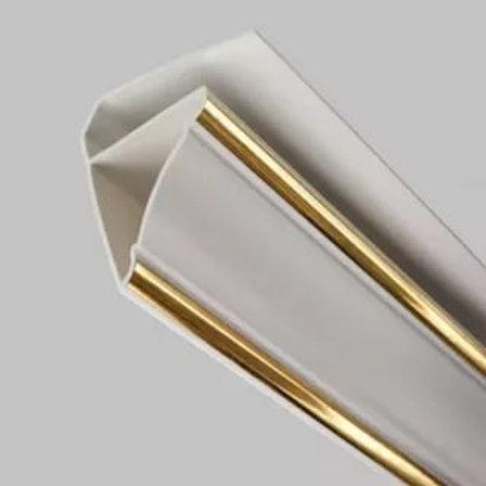 Плинтус для панелей ПВХ золото 3м