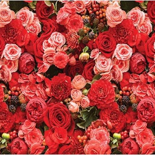 Фартук из пластика Розы