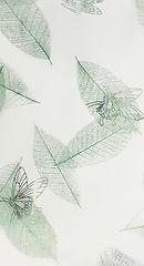 Стеновая панель пласиковая Бабочки зеленые