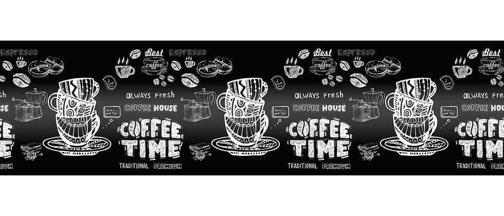 Фартук пластиковый для рабочей зоны Кофе тайм
