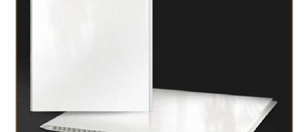 Панель пластиковая белая матовая