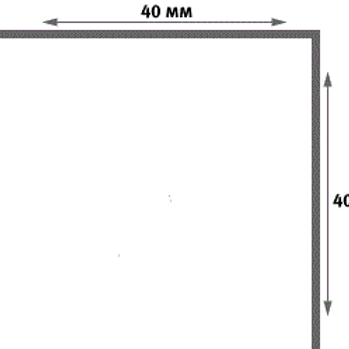 Уголок пластиковый белый 40х40
