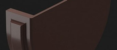 Заглушка жёлоба DOCKE Шоколад