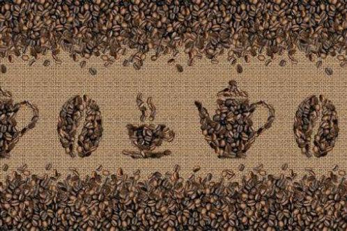 Фартук пластиковый Кофейные зерна 3000*600
