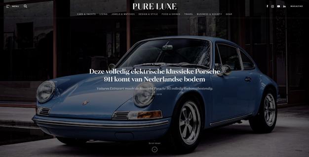 Deze volledig elektrische klassieke Porsche 911 komt van Nederlandse bodem