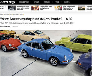 Voitures Extravert expanding its run of electric Porsche 911s