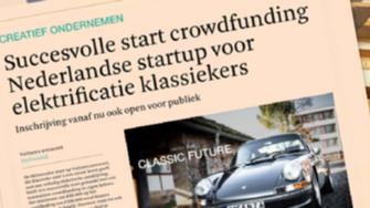 Succesvolle start crowdfunding Nederlandse startup voor elektrische klassiekers