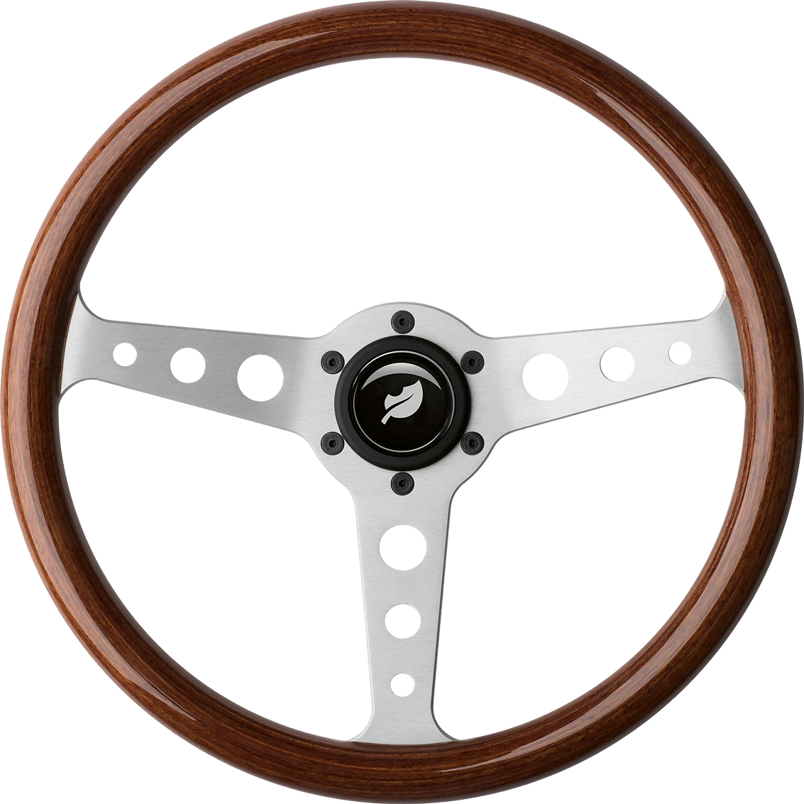 Steering wheel powersteering icon logo.p