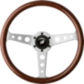 Steering wheel powersteering icon logo.p