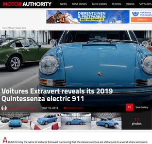 Voitures extravert reveals its 2019 quintessenza electric 911