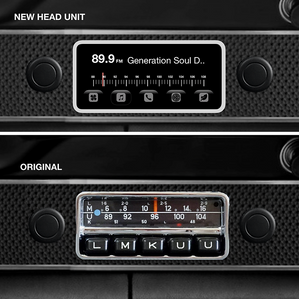 Completely new designed head unit