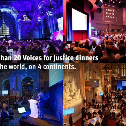 Human Rights Watch: Voices for Justice Annual Dinner