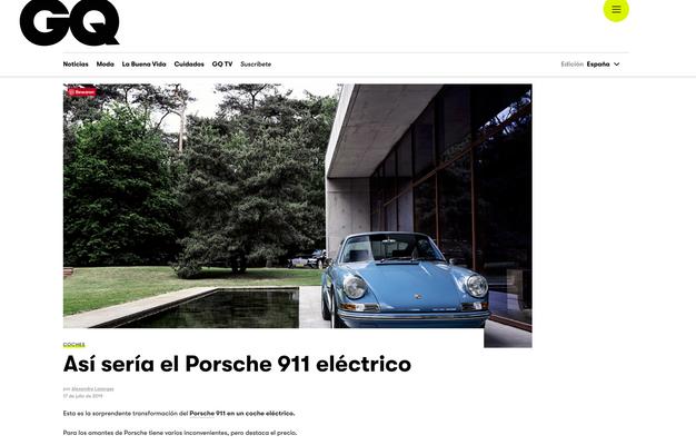 Así sería el Porsche 911 eléctrico
